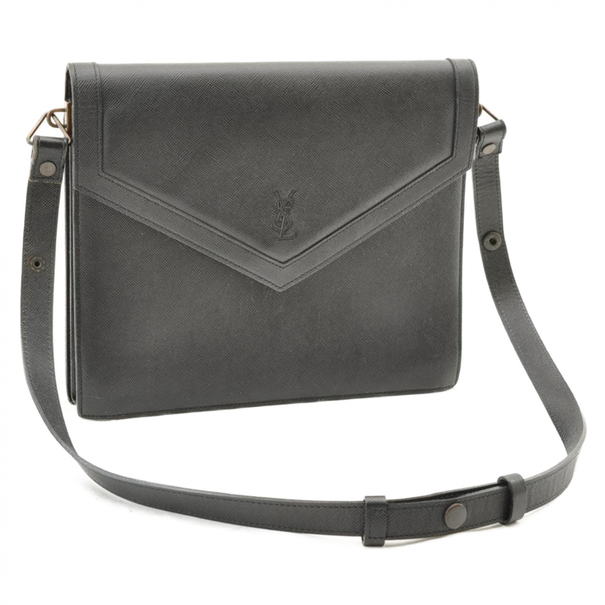 Yves Saint Laurent \N Handtasche in  Schwarz Leinen