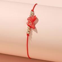 Maedchen Armband mit Schmetterling Dekor
