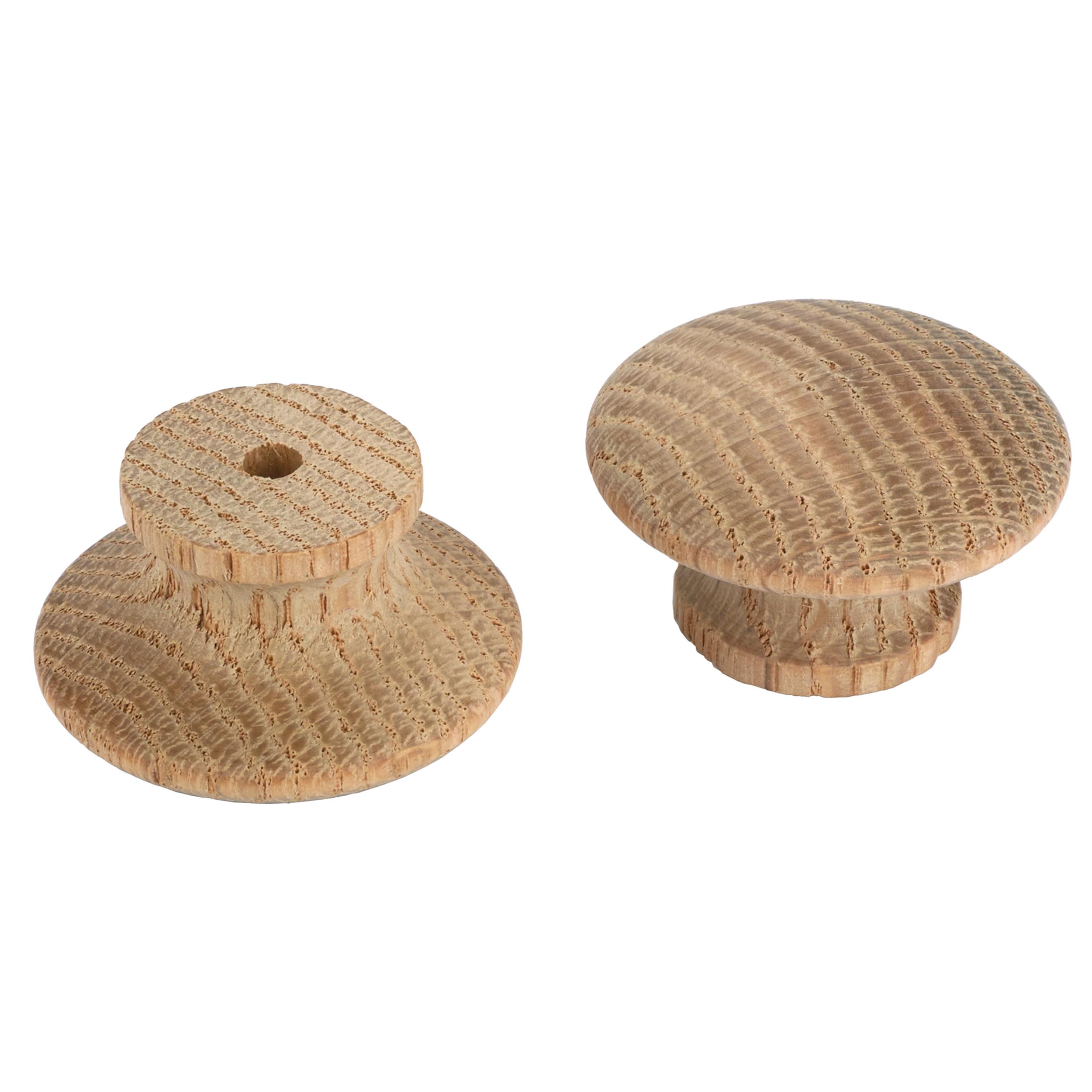 Mushroom Knob, Oak 1-3/4