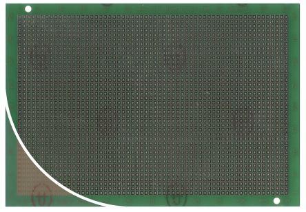 Roth Elektronik RE230-LF, Single Sided Matrix Board FR4 with 40 x 60 1.02mm Holes, 2.54 x 2.54mm Pitch, 165.1 x 114.3 x 1.6mm