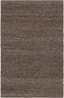 Tahoe TAH-3708 8' x 10' Rectangle Modern Rugs in Medium Gray  Tan