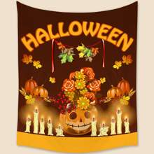 1pc Halloween Pattern Tapestry