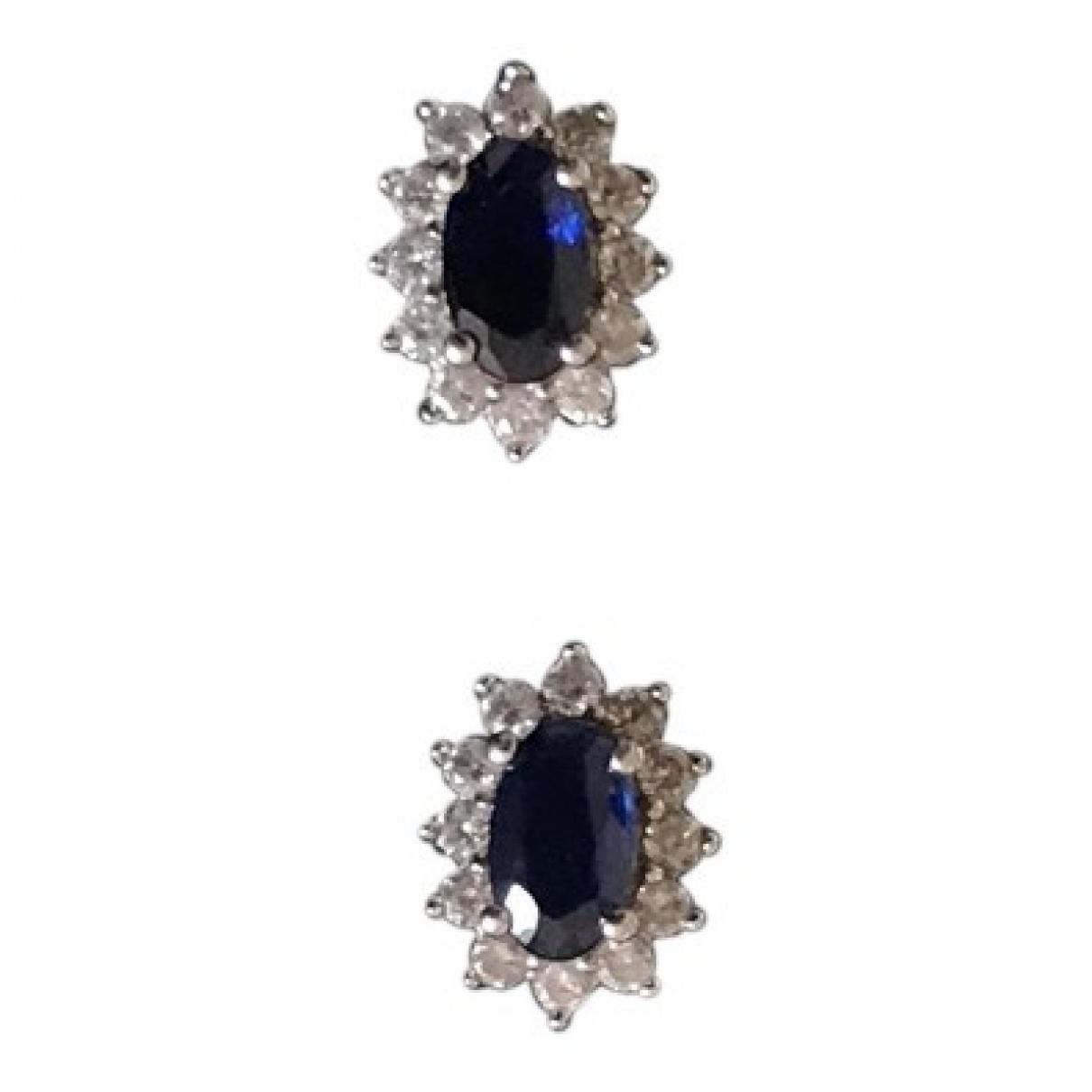 - Boucles doreilles Saphir pour femme en argent - bleu