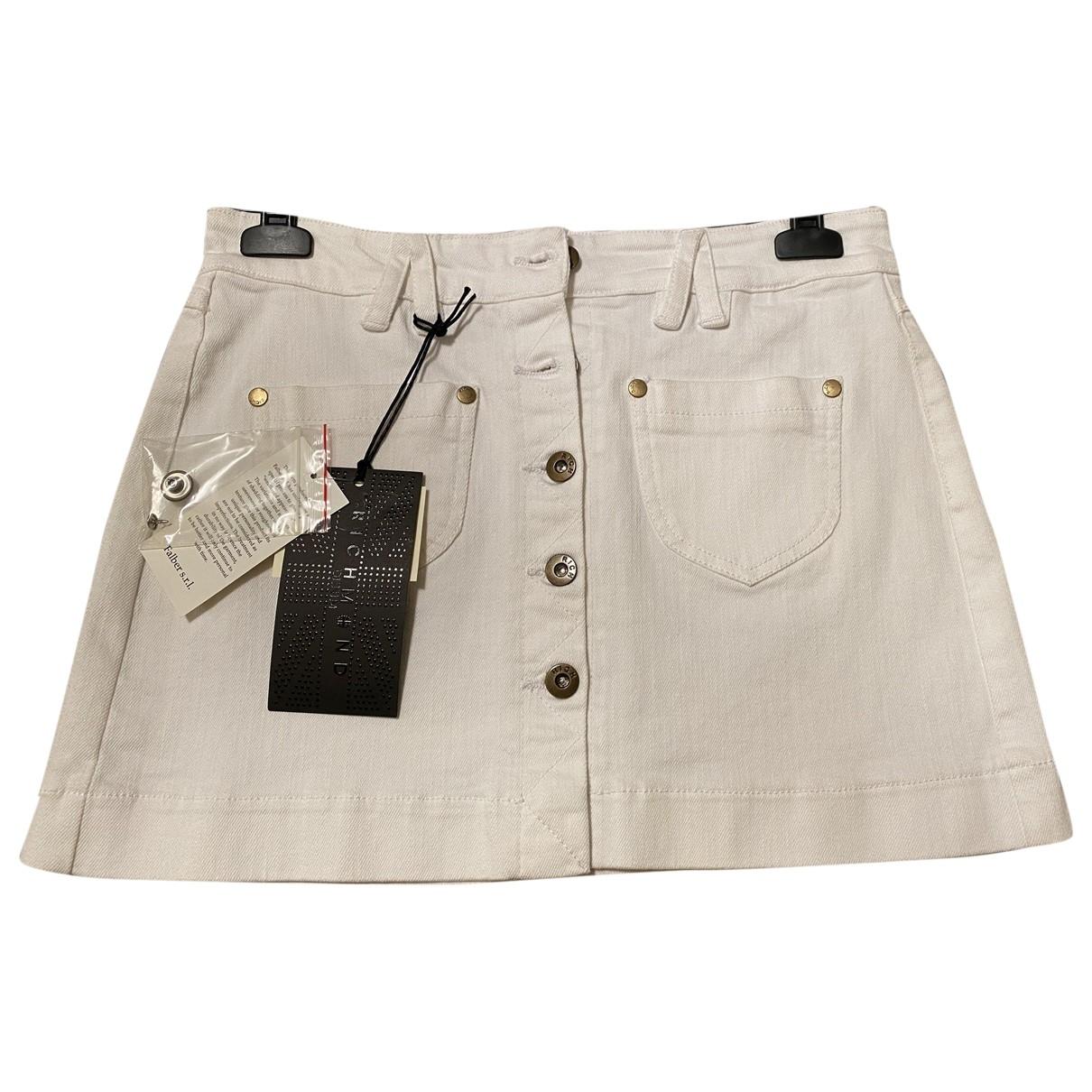 John Richmond \N White Cotton skirt for Women 44 IT