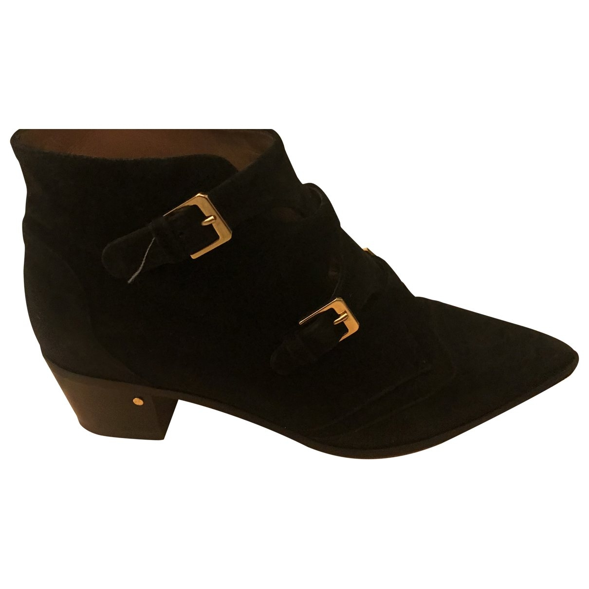 Laurence Dacade \N Black Suede Ankle boots for Women 39 EU