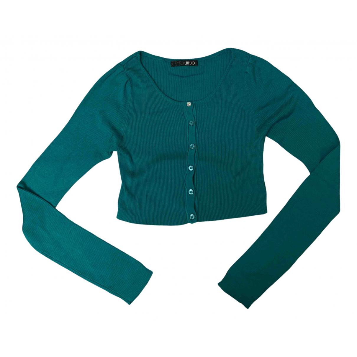 Liu.jo N Navy Silk jacket for Women 42 IT
