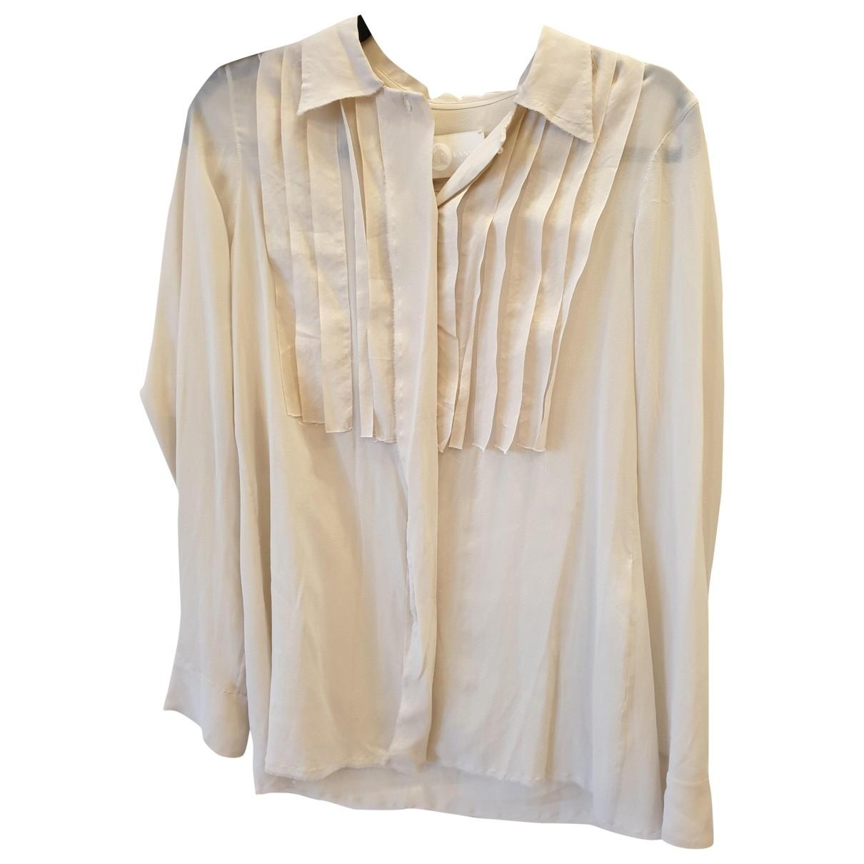 Lanvin - Top   pour femme en soie - ecru