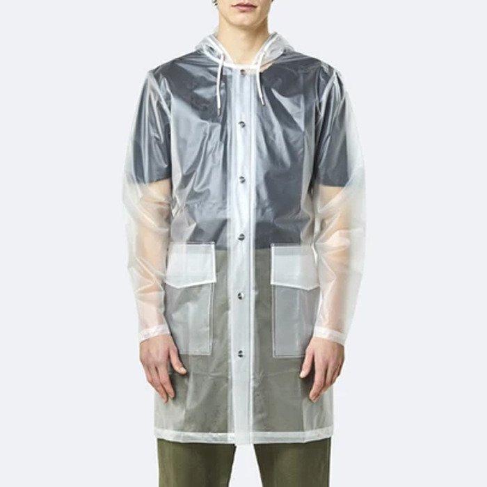Rains Transparent Hooded Coat 1269 FOGGY WHITE