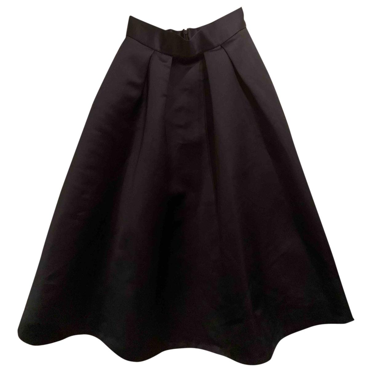 Coast - Jupe   pour femme en coton - noir