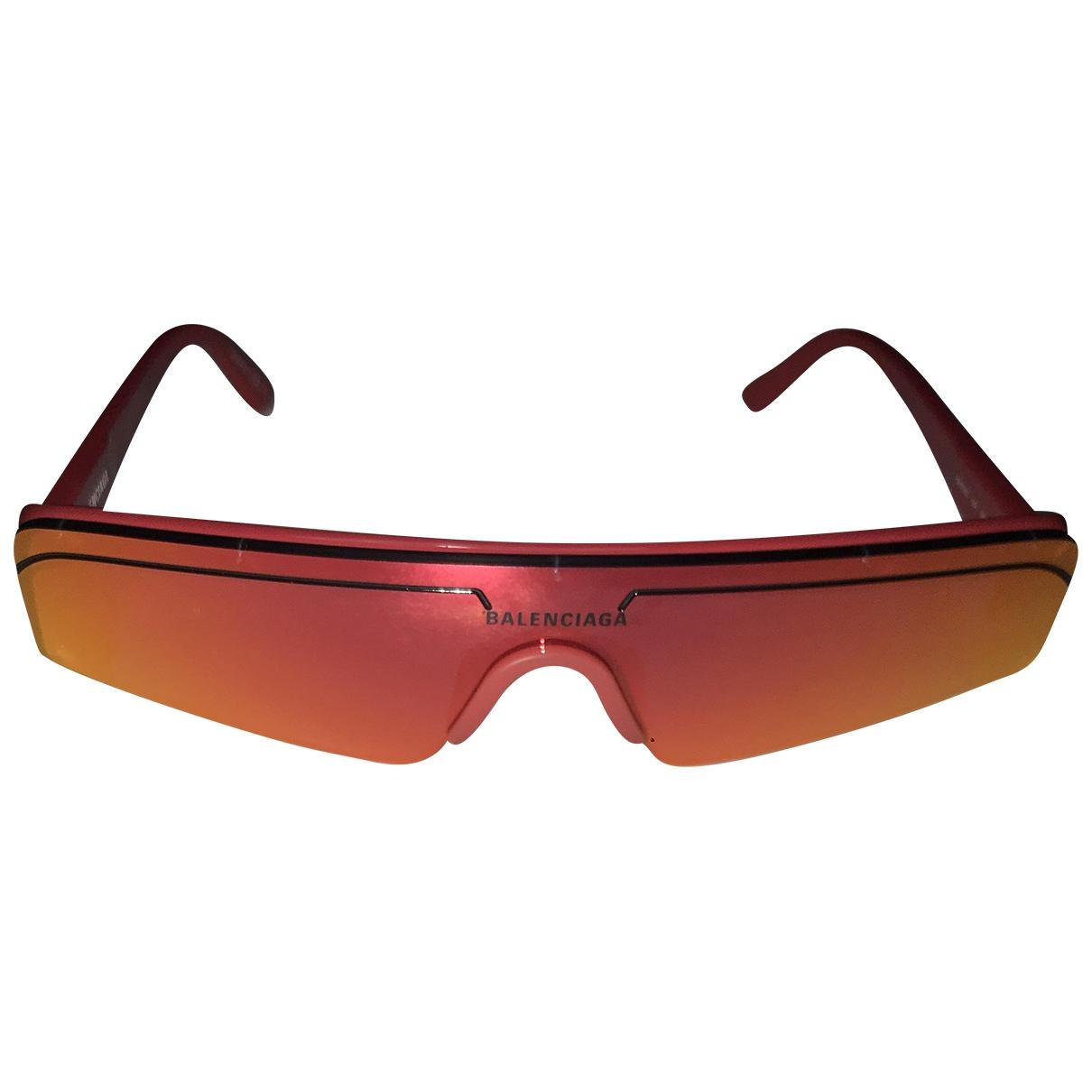 Balenciaga - Lunettes Ski Rectangle pour femme - rouge