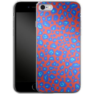 Apple iPhone 6 Silikon Handyhuelle - Bright Leopard Print von caseable Designs