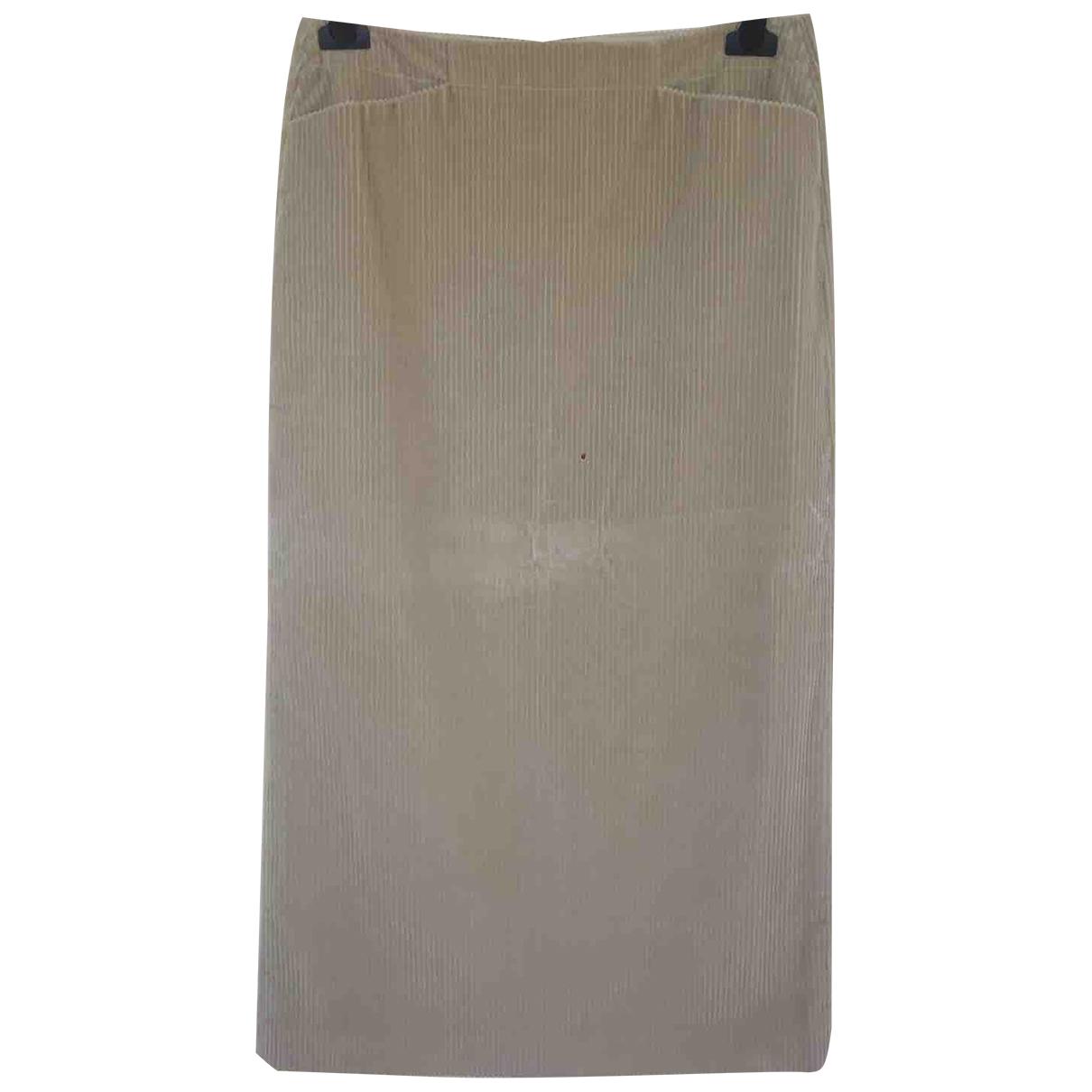 Max Mara 's \N Beige Cotton skirt for Women 42 IT