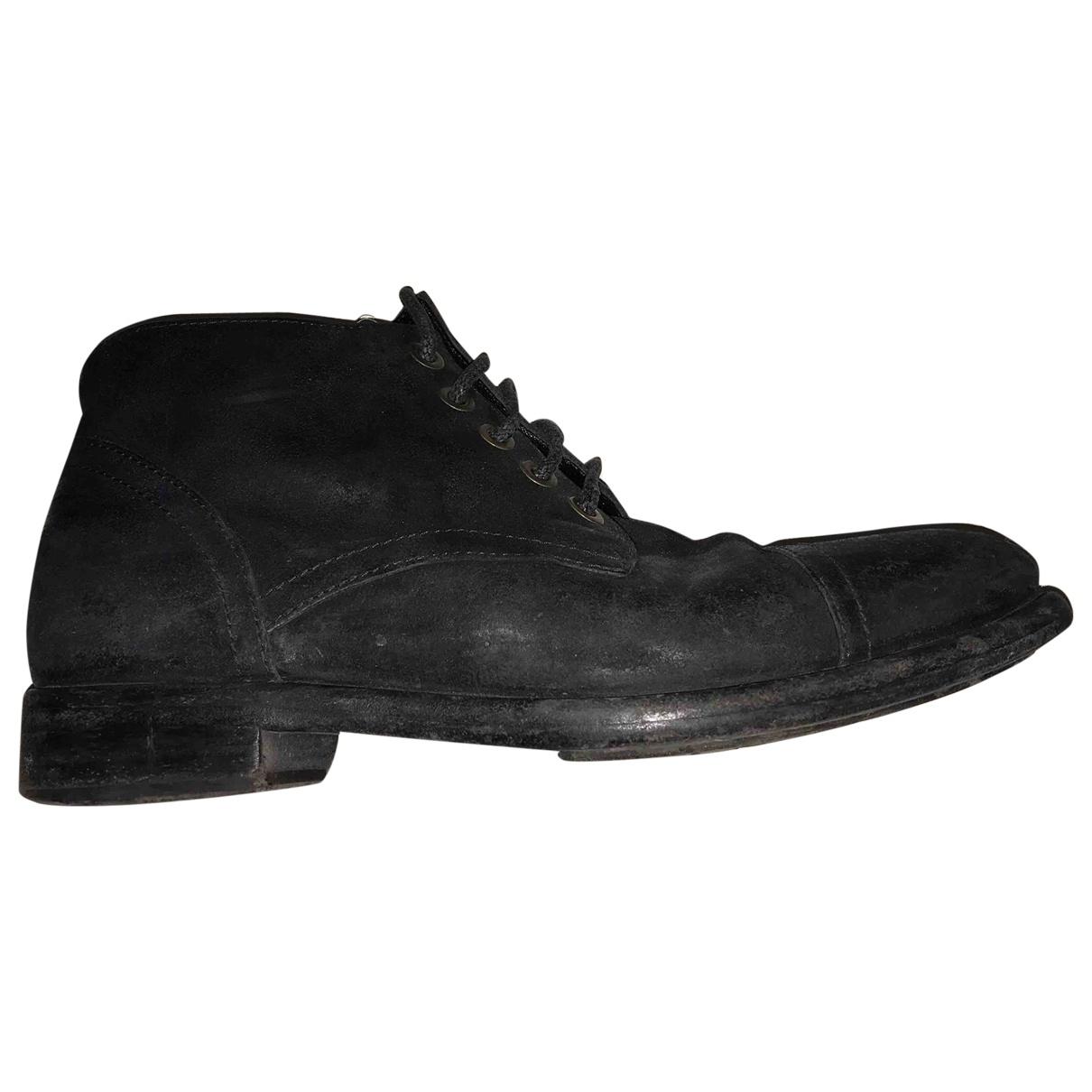 Dolce & Gabbana - Bottes.Boots   pour homme en suede - noir