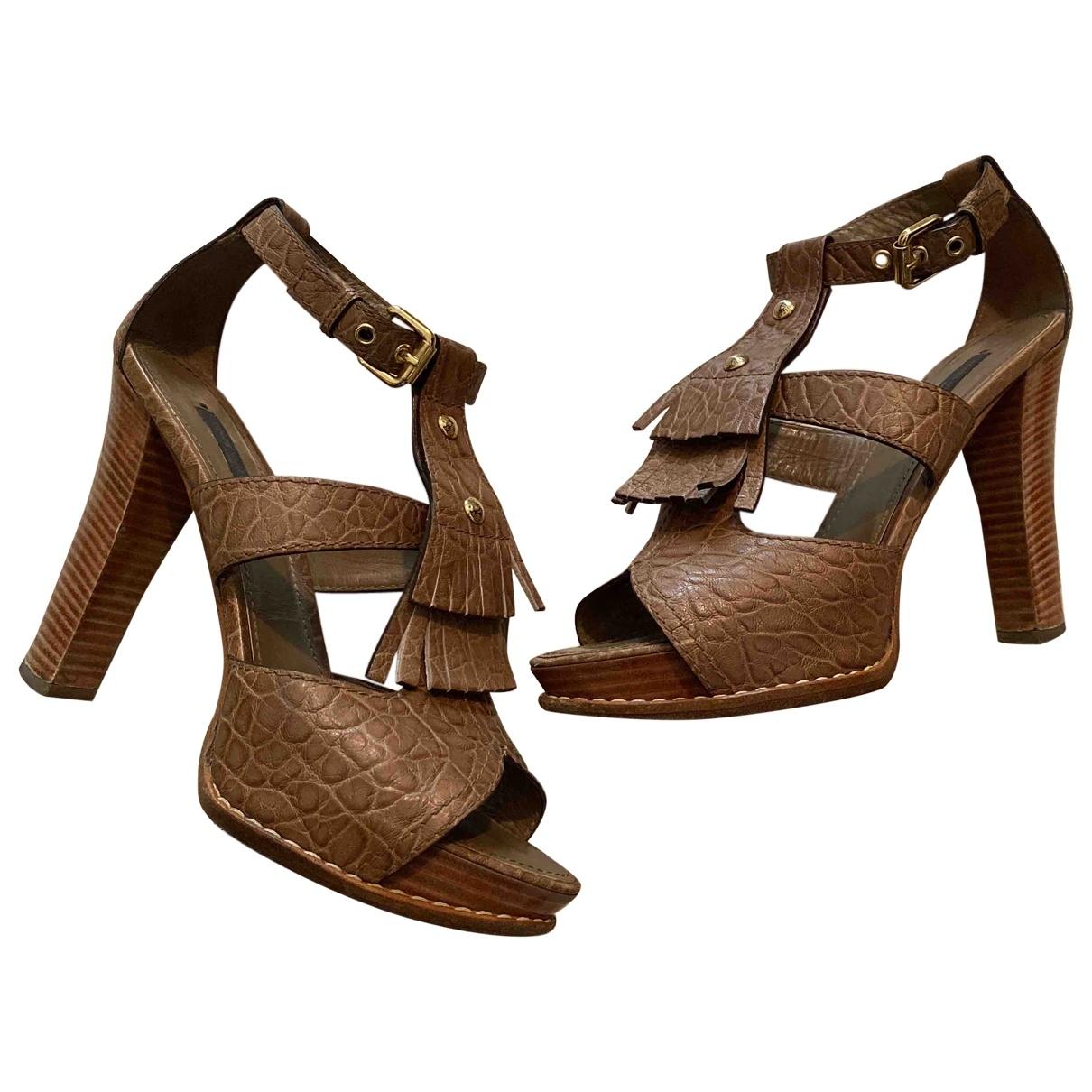 Louis Vuitton \N Brown Leather Sandals for Women 38.5 EU
