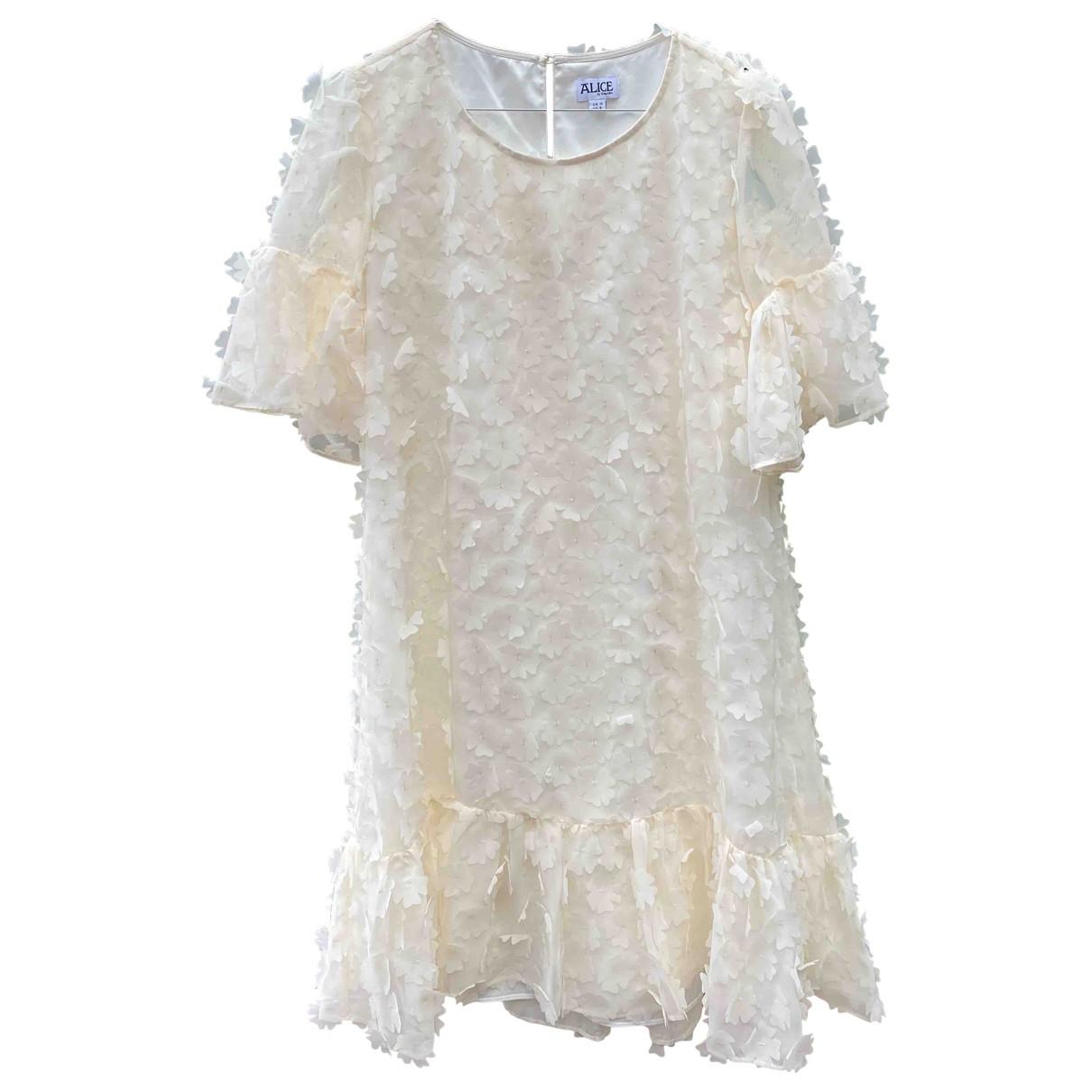 Alice By Temperley \N Ecru dress for Women 10 UK