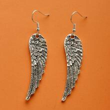Wing Charm Drop Earrings