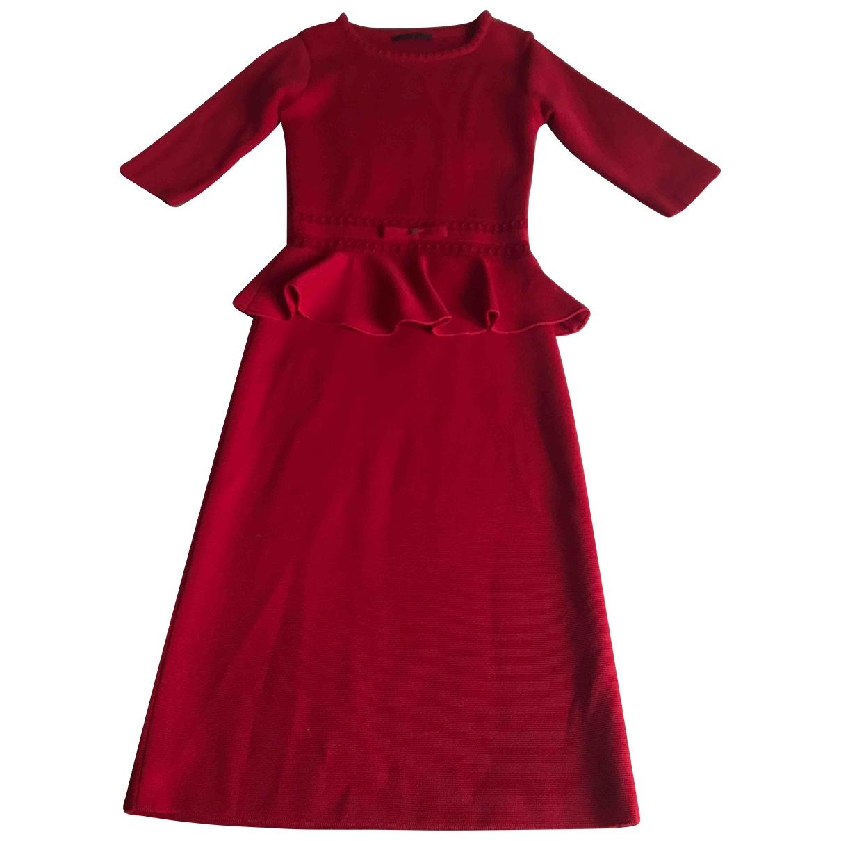 Carolina Herrera \N Red Wool dress for Women 34 FR