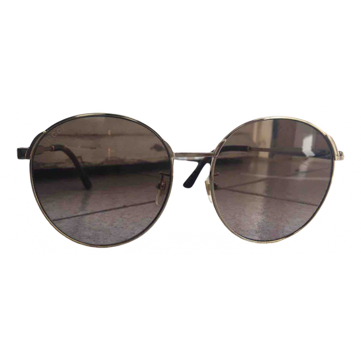 Gucci N Brown Metal Sunglasses for Women N