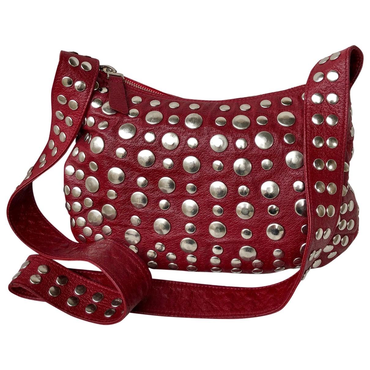 Marni \N Handtasche in  Bordeauxrot Leder
