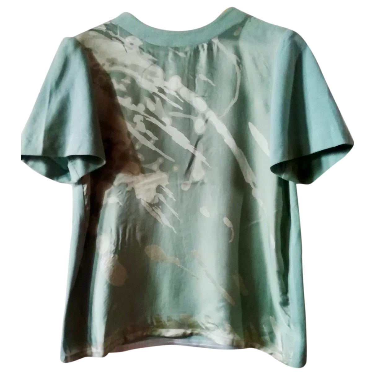 Non Signé / Unsigned \N Green Silk  top for Women 40 IT