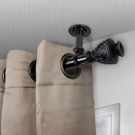 Rod Desyne Veda Ceiling Curtain Rod, One Size , Black