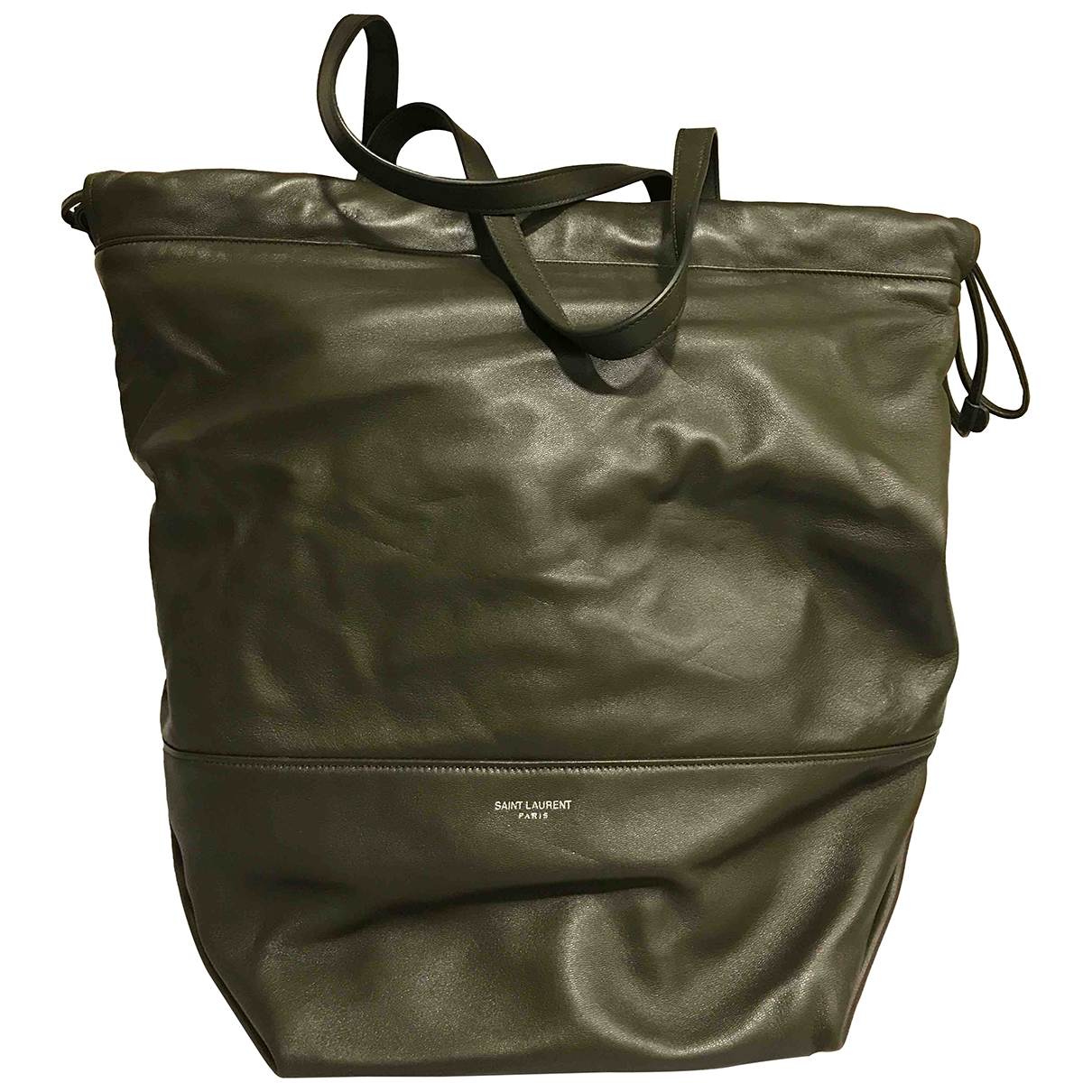 Saint Laurent \N Handtasche in  Khaki Leder