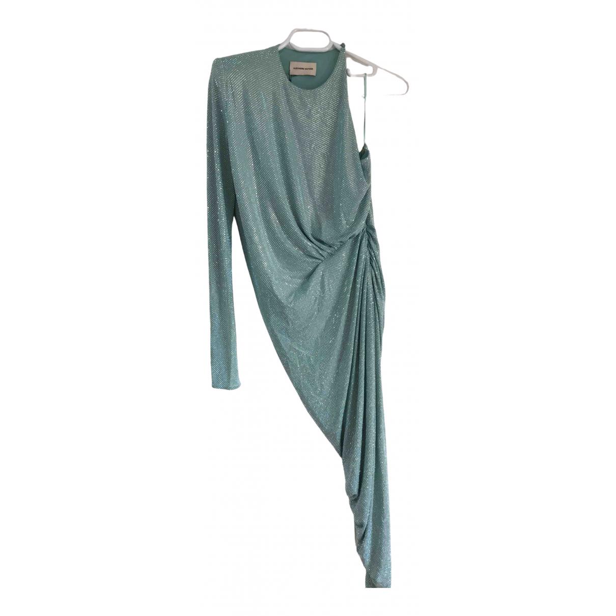 Alexandre Vauthier \N Kleid in  Tuerkis Viskose
