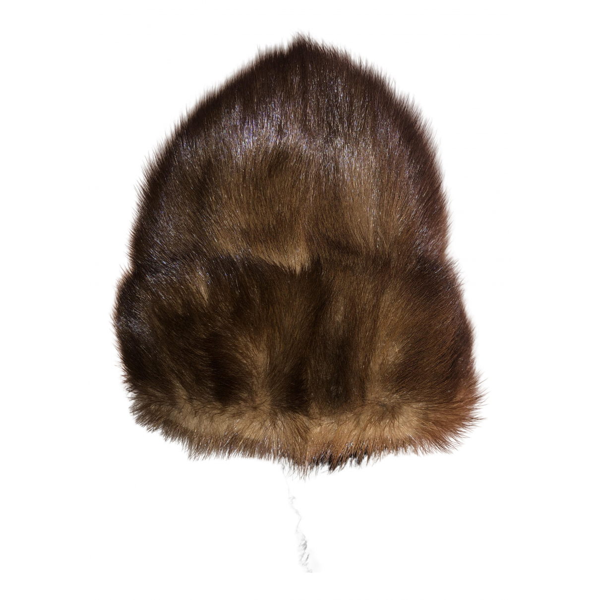 Non Signé / Unsigned N Brown Mink hat for Women M International