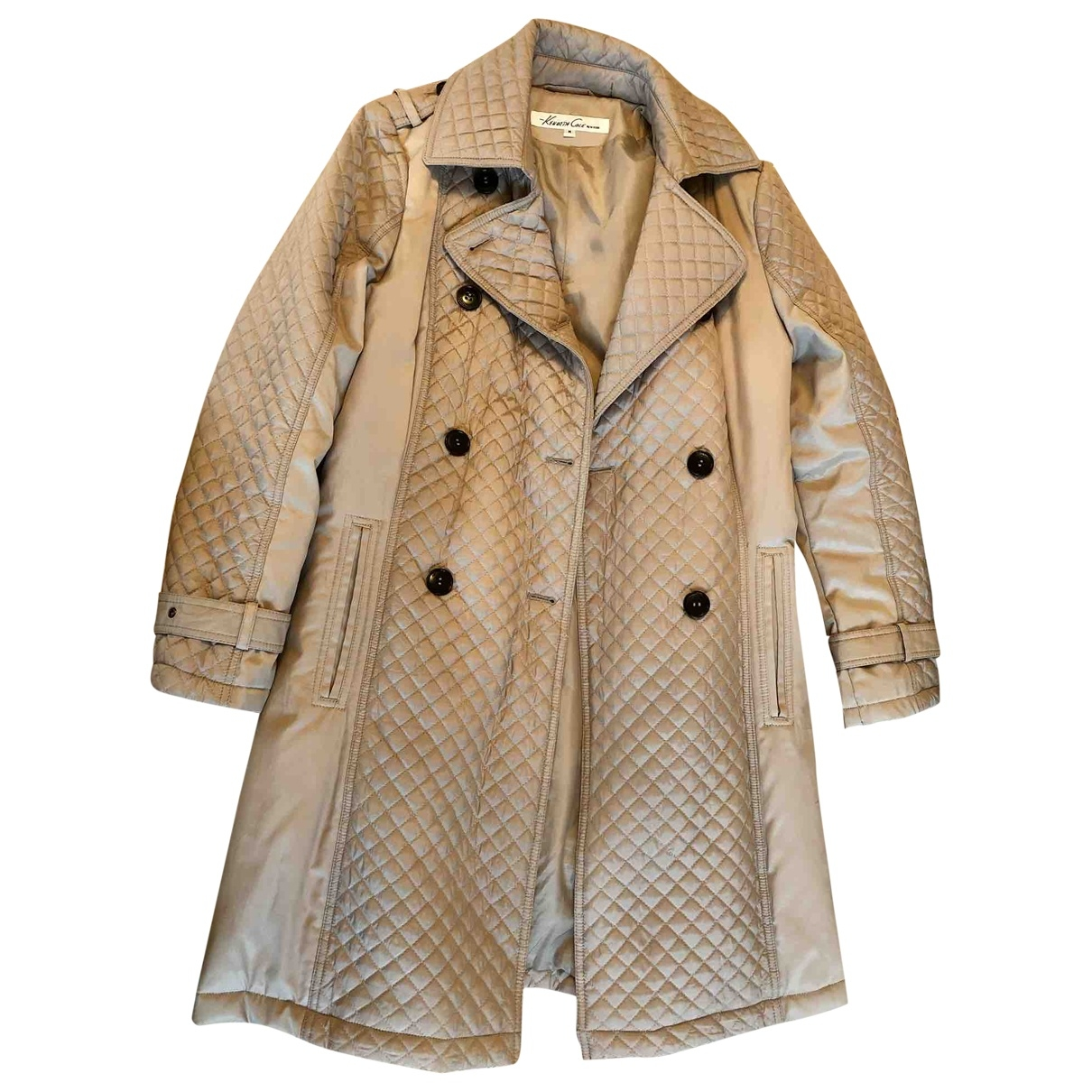 Kenneth Cole - Manteau   pour femme en coton - beige