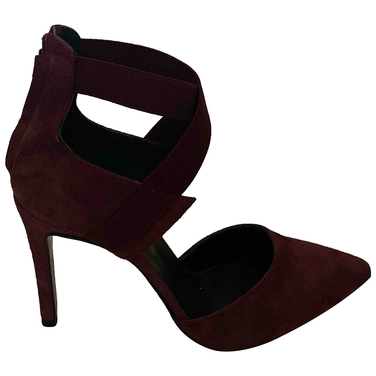 Non Signé / Unsigned \N Burgundy Suede Heels for Women 37 EU