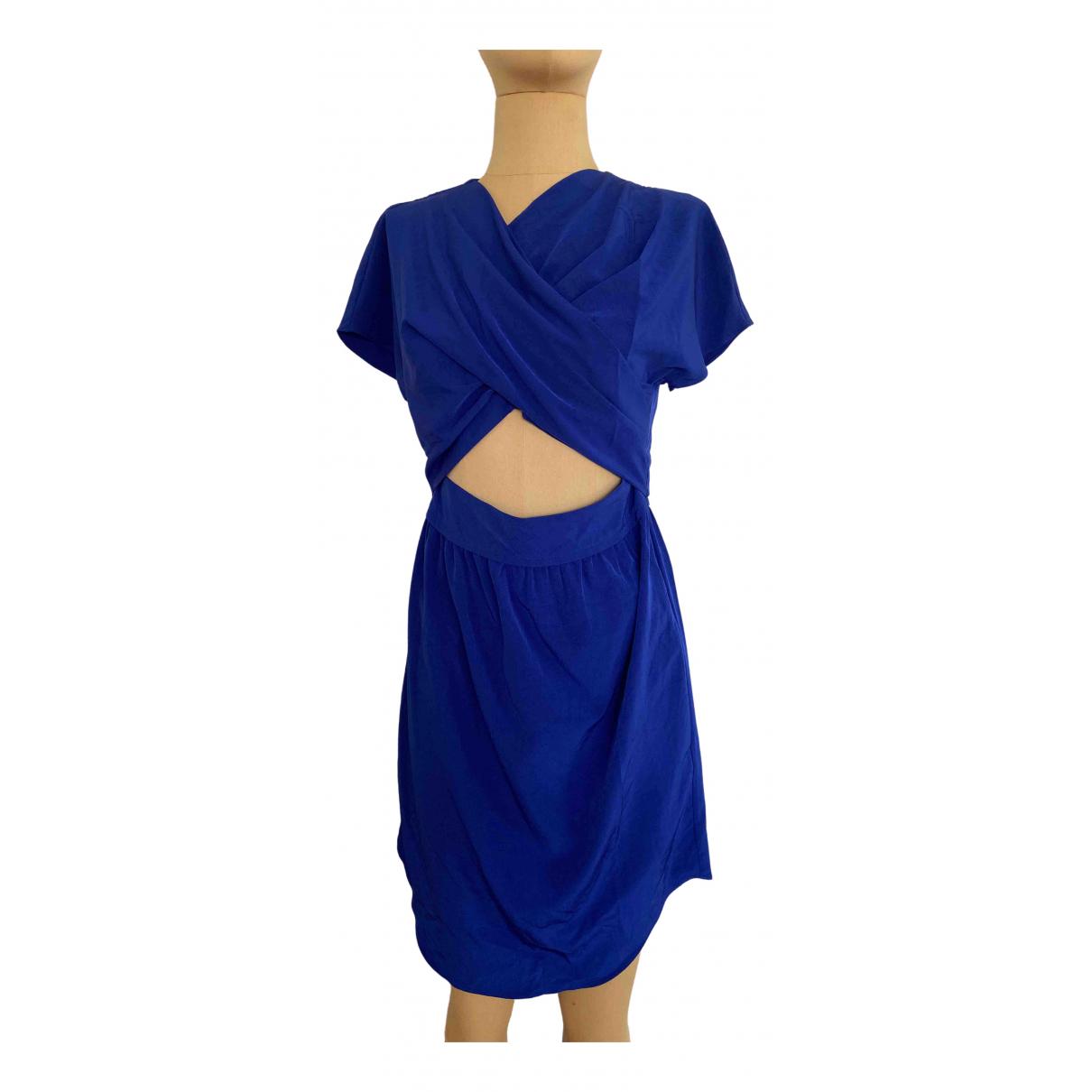 Carven \N Kleid in  Blau Synthetik