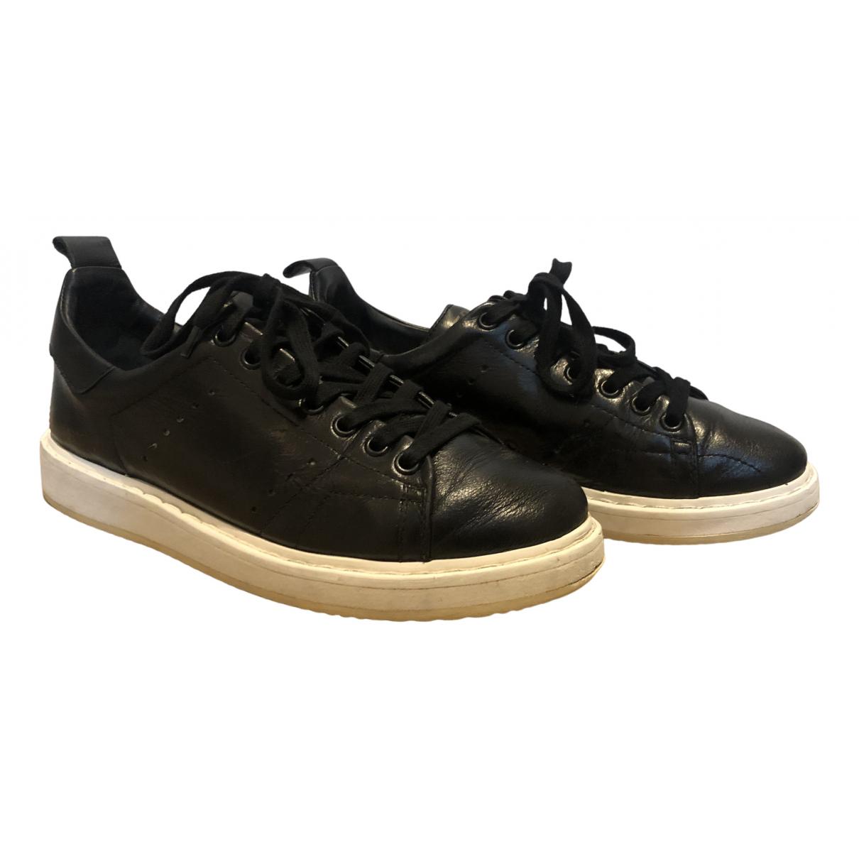Golden Goose - Baskets Starter pour femme en cuir - noir