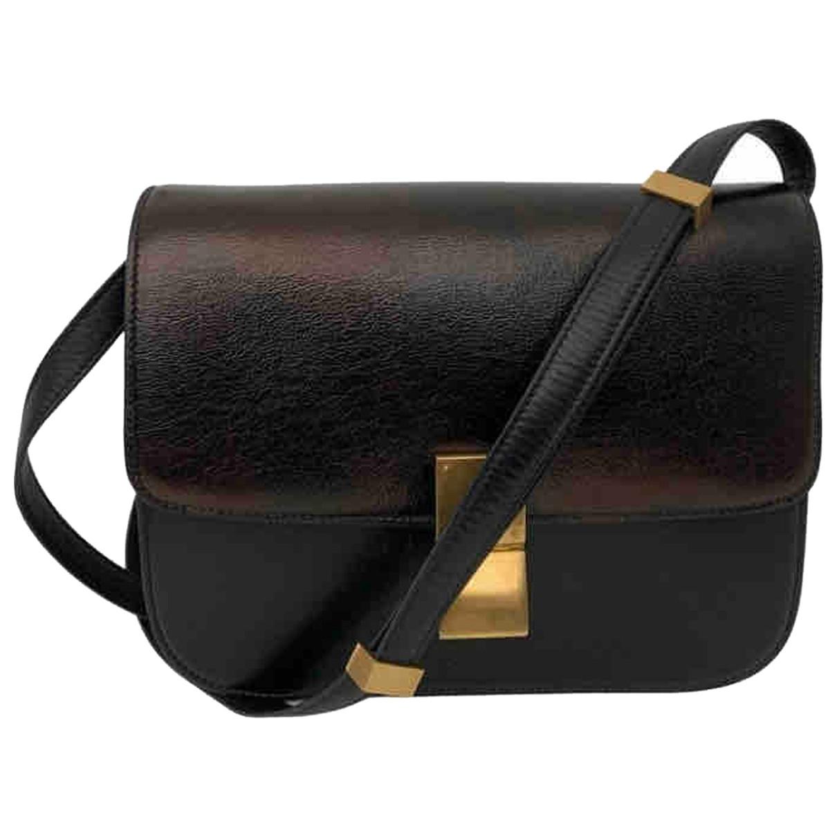 Celine - Sac a main Classic pour femme en cuir - noir