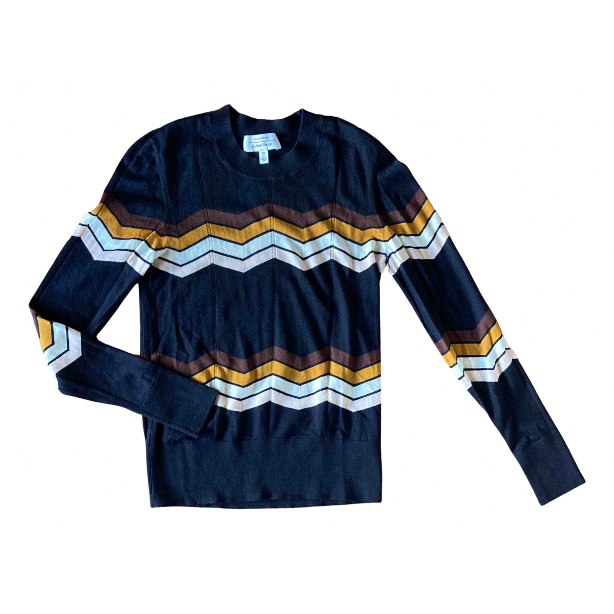 & Other Stories - Pull   pour femme en laine - bleu