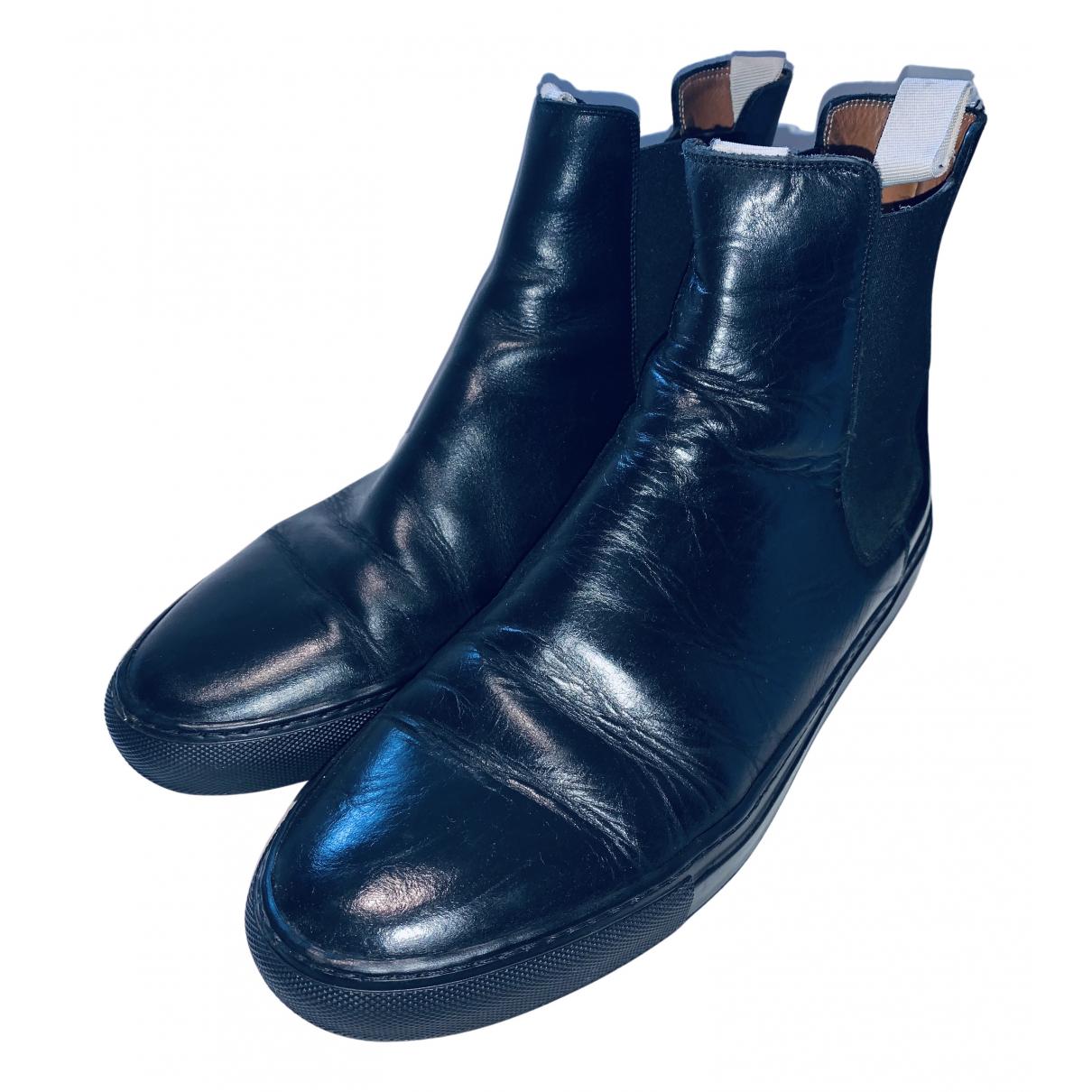 Common Projects - Bottes.Boots   pour homme en cuir - noir