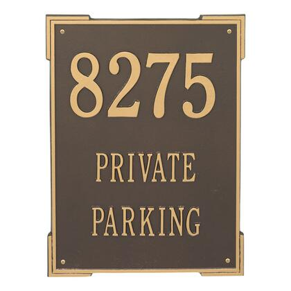 2504OG Extra Large Roanoke Vertical Plaque - Holds up to 3 Lines of Text in Bronze and Gold