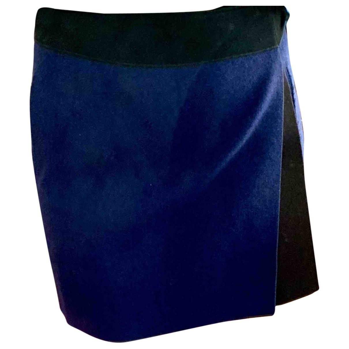 Victoria Beckham - Jupe   pour femme en laine - bleu