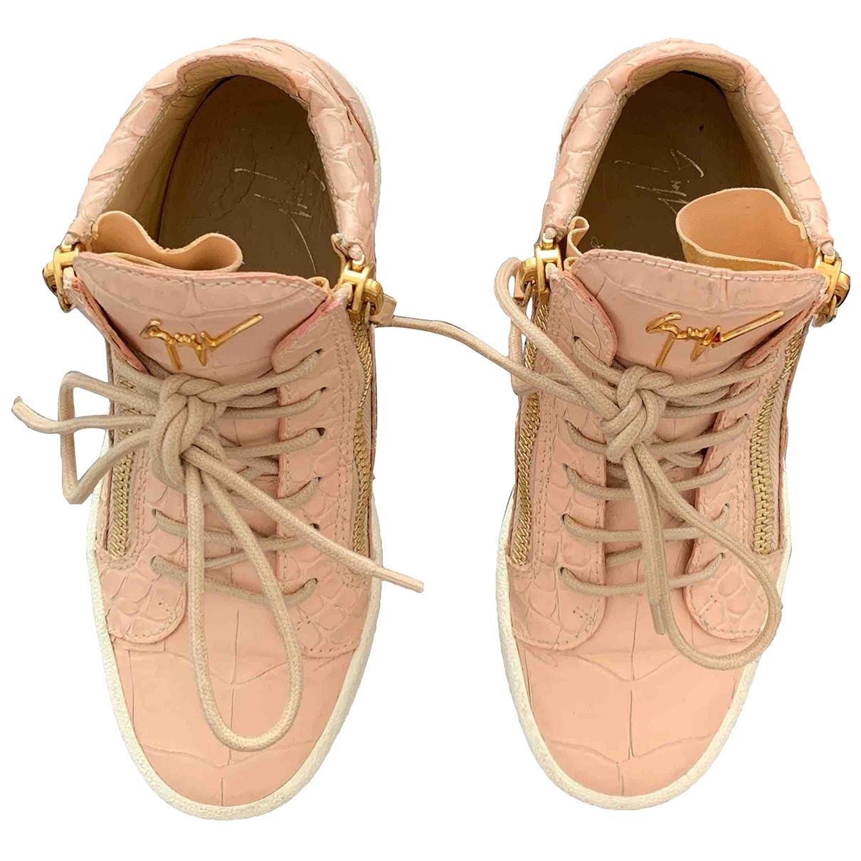 Giuseppe Zanotti Donna Sneakers in  Rosa Leder