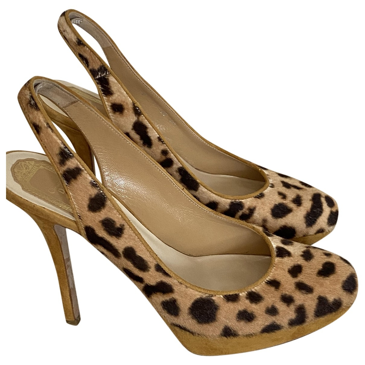 Dior \N Beige Pony-style calfskin Heels for Women 39 EU