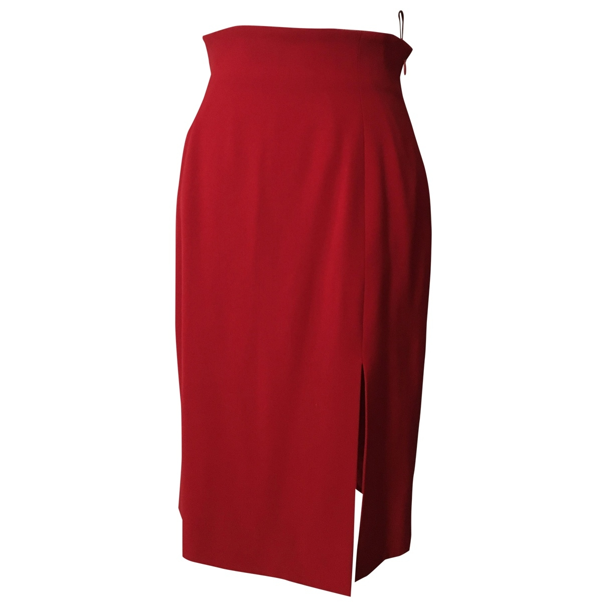 Celine \N Red Wool skirt for Women 38 FR