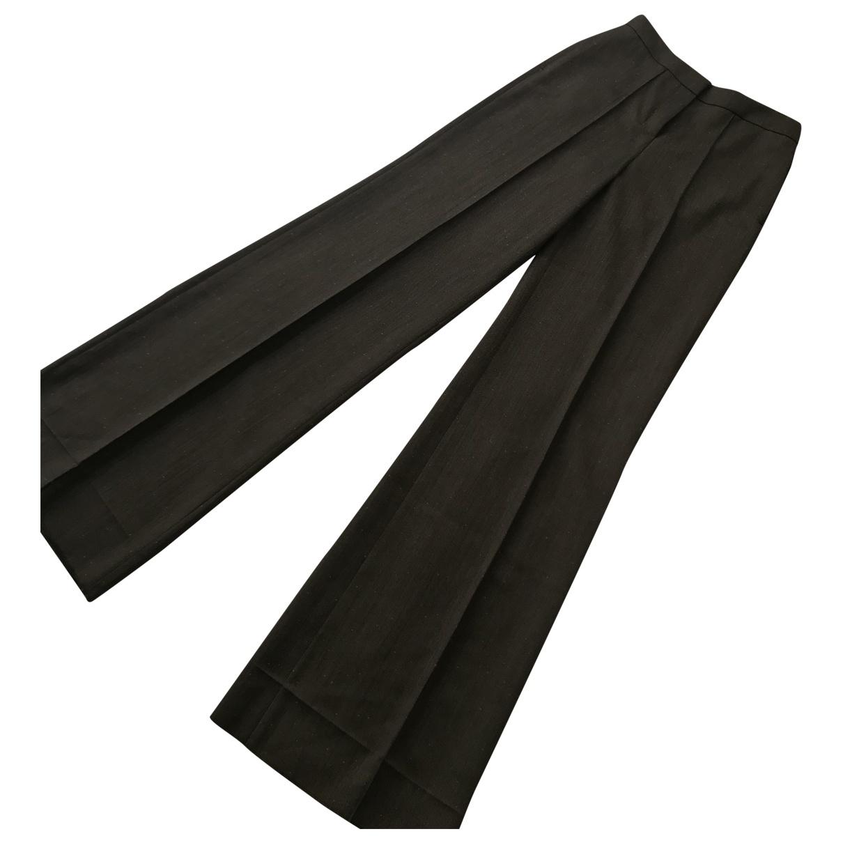 Yves Saint Laurent \N Brown Wool Trousers for Women 38 FR