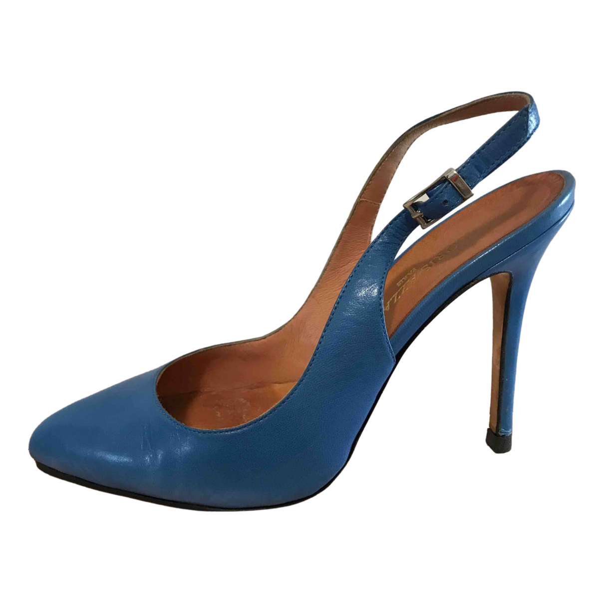 Loris Azzaro \N Blue Leather Heels for Women 35 EU