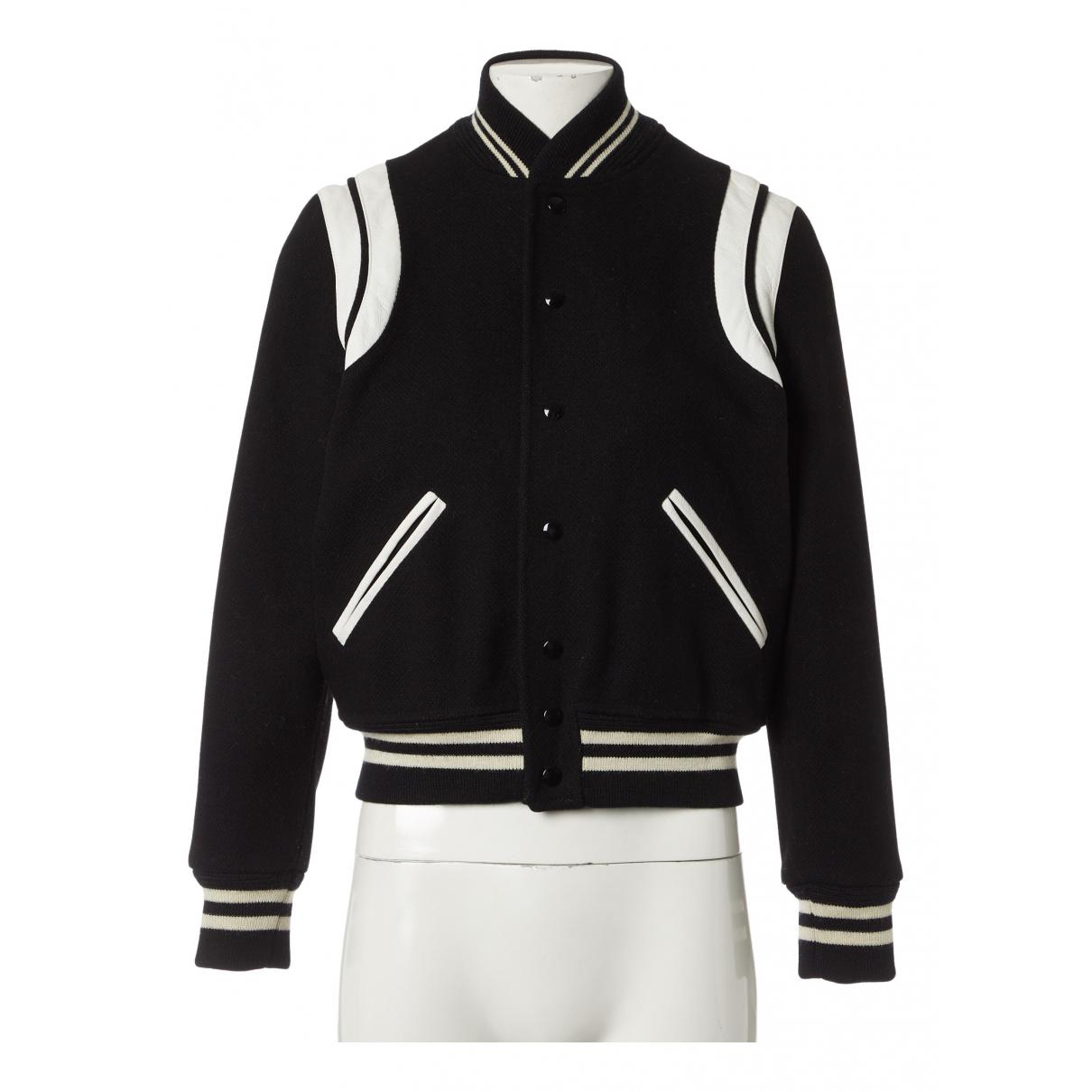 Saint Laurent N Black Wool jacket for Women 40 FR