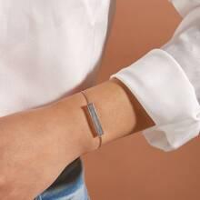1 Stueck Armband mit Strass, Glitzer und Leiste Dekor