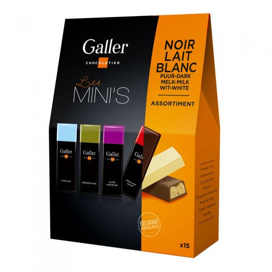 """Taschenpackung von Miniriegeln Galler """"Assortment"""", 15 Stk."""