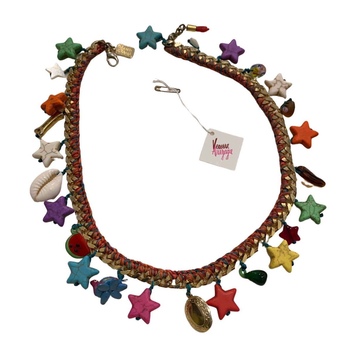Venessa Arizaga - Collier   pour femme en plaque or - multicolore