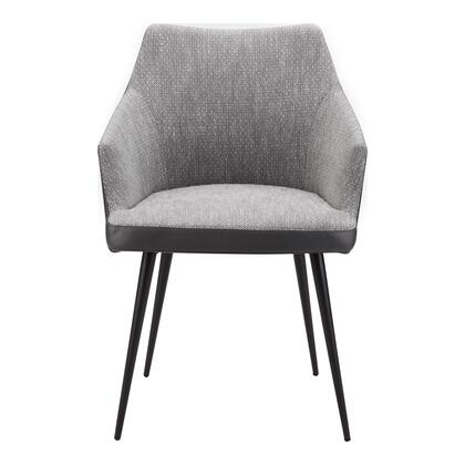 Beckett Collection EJ-1027-15 Dining Chair with Steel Frame in Gray