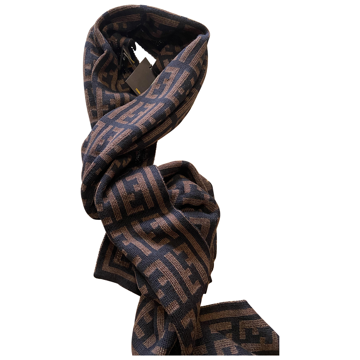 Fendi - Foulard   pour femme en laine - marron