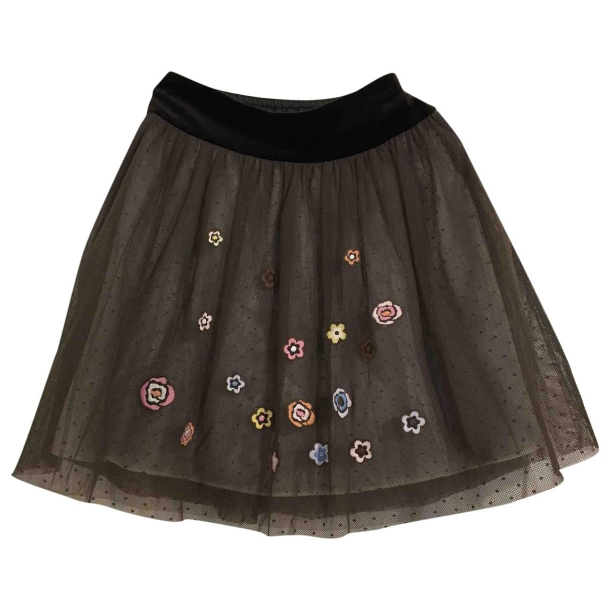 Simonetta - Jupe   pour enfant en coton - marron