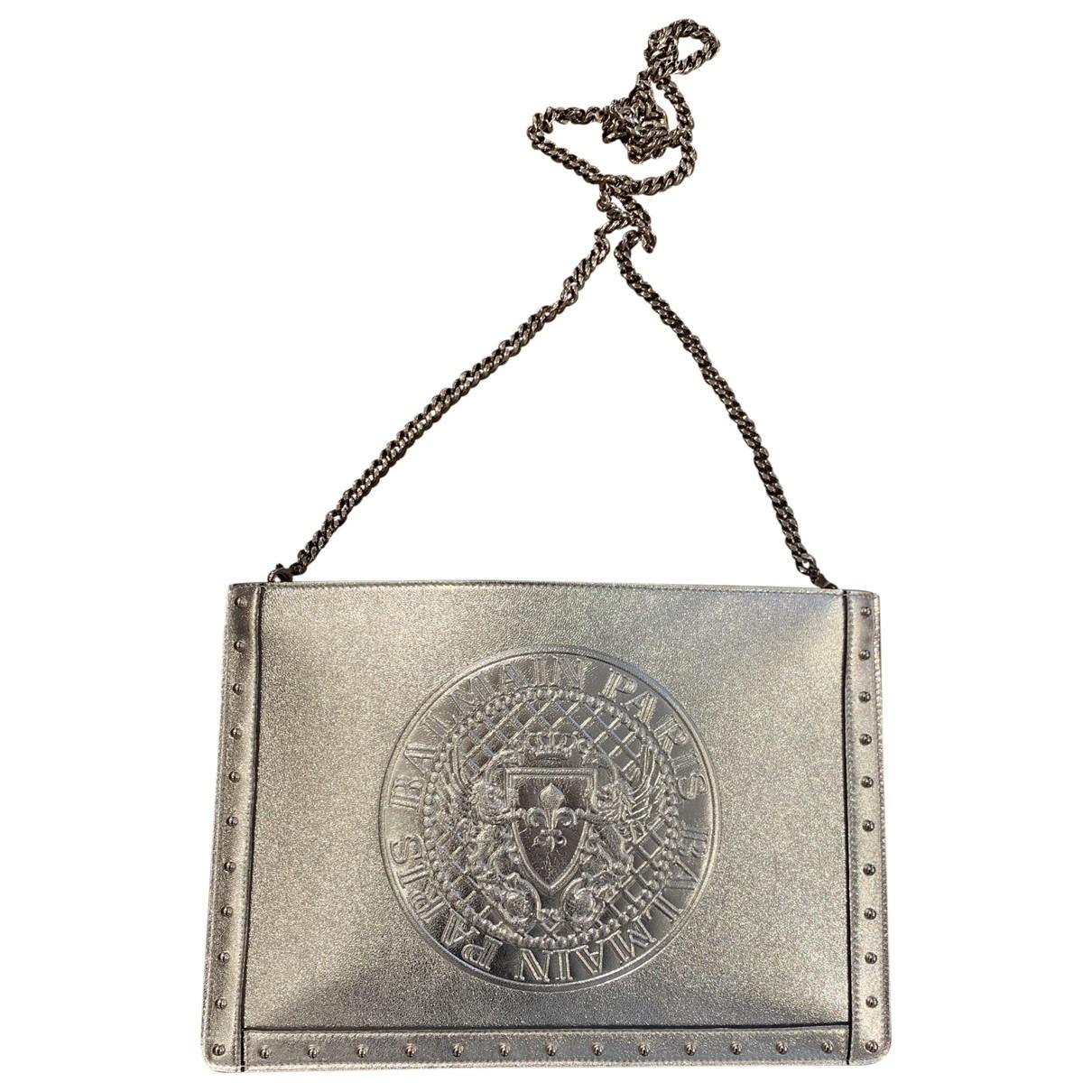 Balmain \N Clutch in  Metallic Leder